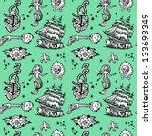 seamless pattern tattoo | Shutterstock .eps vector #133693349