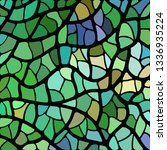 abstract vector stained glass... | Shutterstock .eps vector #1336935224