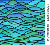 abstract vector stained glass... | Shutterstock .eps vector #1336935227