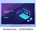 cryptocurrency and blockchain... | Shutterstock .eps vector #1336944824