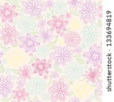 seamless floral pattern | Shutterstock .eps vector #133694819