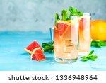 grapefruit and mint gin tonic... | Shutterstock . vector #1336948964