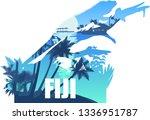 vector fiji illustration with... | Shutterstock .eps vector #1336951787