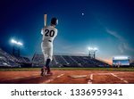 baseball player at professional ... | Shutterstock . vector #1336959341