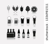 cold beers set icons | Shutterstock .eps vector #1336981511