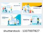 set of social media marketing ... | Shutterstock .eps vector #1337007827