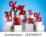 symbol percent  concept of...   Shutterstock . vector #133700927