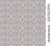 embroidery needlework damask...   Shutterstock .eps vector #1337012591