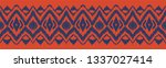 ikat seamless pattern. vector... | Shutterstock .eps vector #1337027414