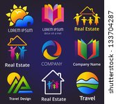set of company name concepts.... | Shutterstock .eps vector #133704287