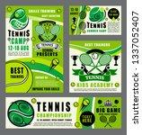 tennis school tournament  ball... | Shutterstock .eps vector #1337052407