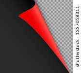 black red curled corner of the... | Shutterstock .eps vector #1337058311