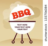 bbq party invitation | Shutterstock .eps vector #133706084