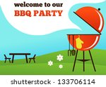 bbq party invitation | Shutterstock .eps vector #133706114