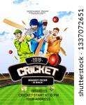 vector illustration of cricket ... | Shutterstock .eps vector #1337072651