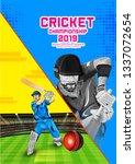 vector illustration of cricket ...   Shutterstock .eps vector #1337072654