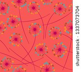 cute dandelion blowing vector... | Shutterstock .eps vector #1337073704