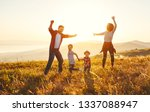 happy family  mother  father ... | Shutterstock . vector #1337088947