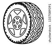 tire car wheel icon | Shutterstock .eps vector #1337089391