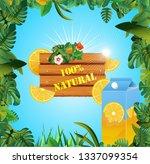 lemon drinks advertising design ... | Shutterstock .eps vector #1337099354