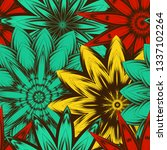 seamless floral background.... | Shutterstock .eps vector #1337102264