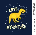 cute dinosaur hand drawn with...   Shutterstock .eps vector #1337104841