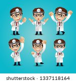 profession   doctor with... | Shutterstock .eps vector #1337118164