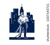 illustration of male worker...   Shutterstock .eps vector #1337143721