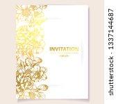 vintage delicate greeting... | Shutterstock . vector #1337144687