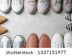 flat lay composition with... | Shutterstock . vector #1337151977