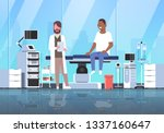 doctor visiting african... | Shutterstock .eps vector #1337160647