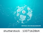 futuristic abstract background...   Shutterstock .eps vector #1337162864
