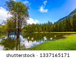 the lake in northern italy  ... | Shutterstock . vector #1337165171