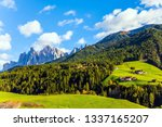 picturesque farms with red... | Shutterstock . vector #1337165207