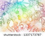 hand drawn doodle backdrop... | Shutterstock .eps vector #1337173787