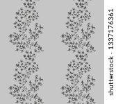 hand drawn flower seamless... | Shutterstock .eps vector #1337176361