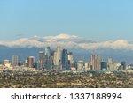 downtown los angeles skyline...   Shutterstock . vector #1337188994