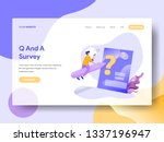 landing page q and a vector...
