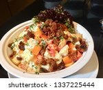 mixed salad with bacon | Shutterstock . vector #1337225444