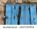 close up view of part of an old ... | Shutterstock . vector #1337225954