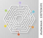 labyrinth maze symbol shape... | Shutterstock .eps vector #1337226131