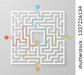 labyrinth maze symbol shape... | Shutterstock .eps vector #1337226134
