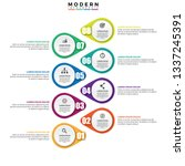 infographics design vector and... | Shutterstock .eps vector #1337245391