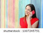 portrait of a fashion happy... | Shutterstock . vector #1337245751