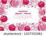 pomegranate fruit design... | Shutterstock .eps vector #1337252381