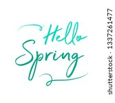 hello spring text | Shutterstock .eps vector #1337261477