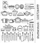 kitchen tools and utensils.... | Shutterstock .eps vector #133726499