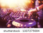 professional club dj playing... | Shutterstock . vector #1337275004