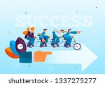 flat group like minded people... | Shutterstock .eps vector #1337275277