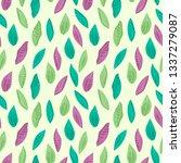 spring seamless pattern | Shutterstock .eps vector #1337279087